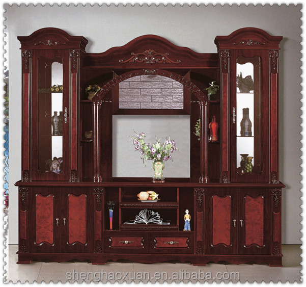 Oem Acceptable Wooden Furniture Wall Units Wood Tv Cabinet Modern ...