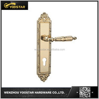 China wholesale corrosion preventive zinc door handle on plate