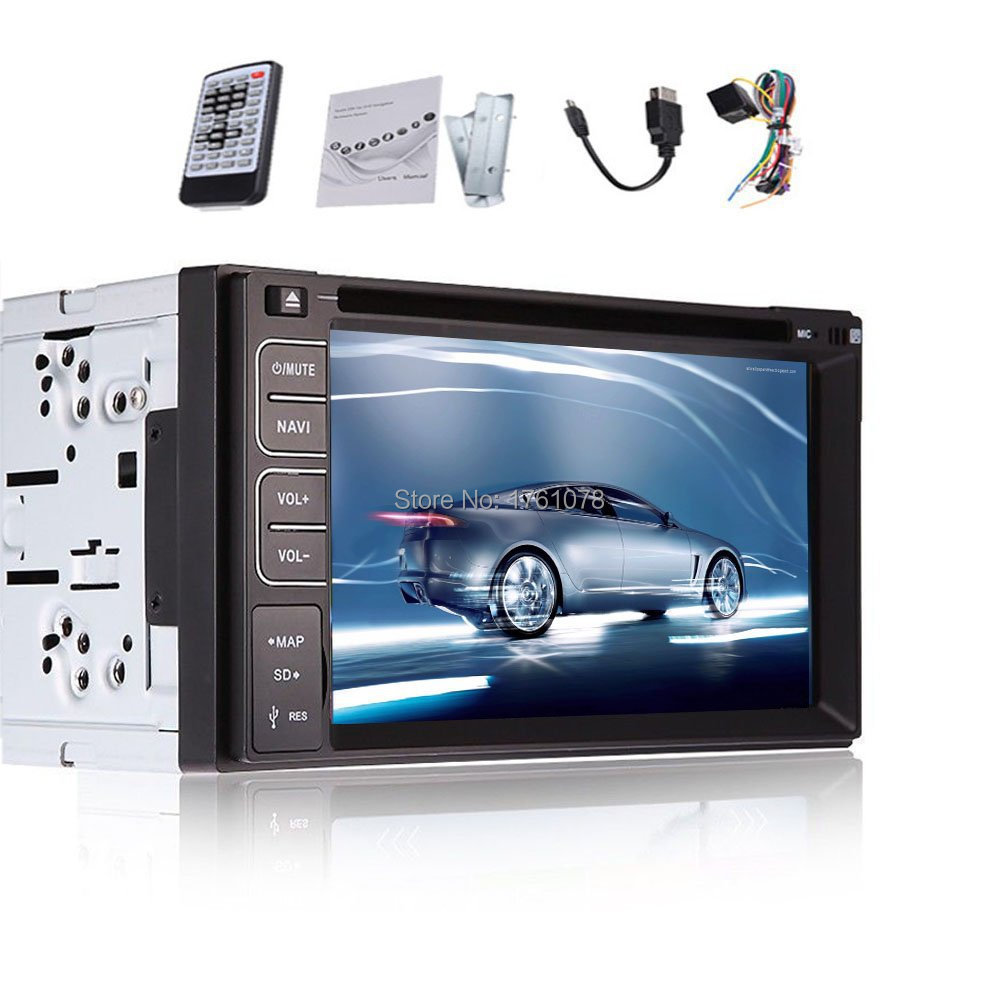 "6.2"" Inch Double 2 Din in Dash Car DVD Playter Mp3 Radio DVD/CD/VCD/MP3/MP4/FM/AM Radio Car Radio Stereo Audio Auxiliary BT PC"