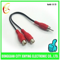 Customized rca splitter 1 male to 2 female cable