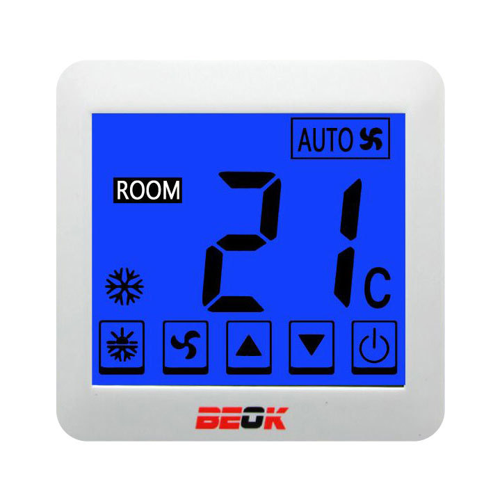 Room Large LCD display fancoil cooling heating programmable thermostat