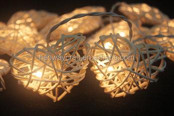 hot sale online bf6e2 fba9a White Love Rattan String Lights/led Christmas Heart Shaped String Lights -  Buy Led Christmas Heart Shaped String Lights,Heart Shaped Flashing Led ...