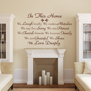 Aly Qws225 Various Unique Family Wall Decor Quotes Stickers