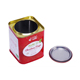 With Airtight Lever Lid for Coffee Spice Food Storage Christmas Gift Square Metal Can Tea Tin Box
