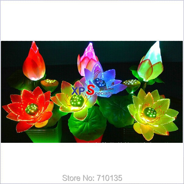 new year 2015 lotus flower led light for mini optical fiber flower of led flower pot lighting used for christmas decoration