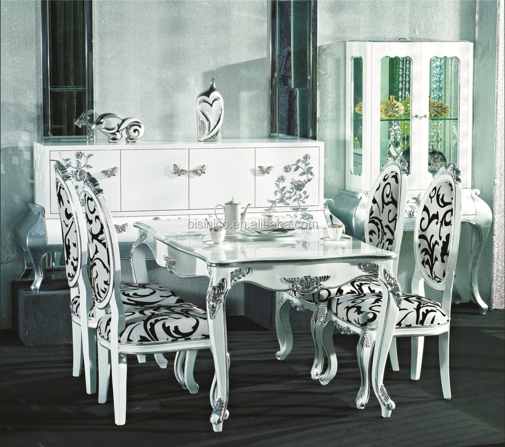 ornate design series dining set,square dining table and chairs