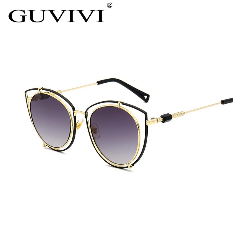 d2c97175f6ab6 GUVIVI Cat eye óculos de sol por atacado na china Designer de óculos de sol  das