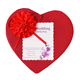 red color heart shape wedding gift box