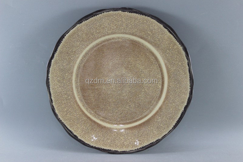 Rustic Melamine dinner plate Crackle Side Dishes