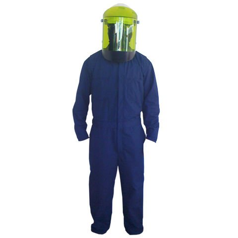 12 cal/cm2 Flame-Resistant Work Wear Protera Coverall with 12 cal/cm2 Arc Faceshield