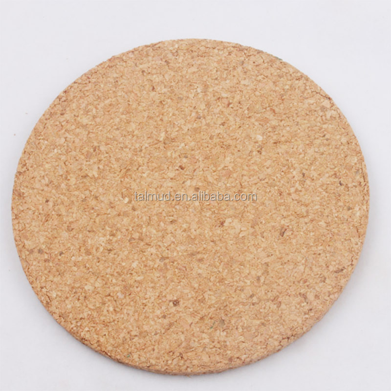 Round Waterproof Blank Cork Coaster For Entertainment Activities