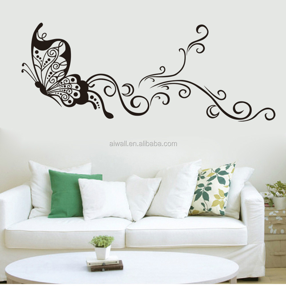 Wall Decor Stickers For Living Room Wholesale 9315 Large Size Butterfly Wal Stickers Diy Home