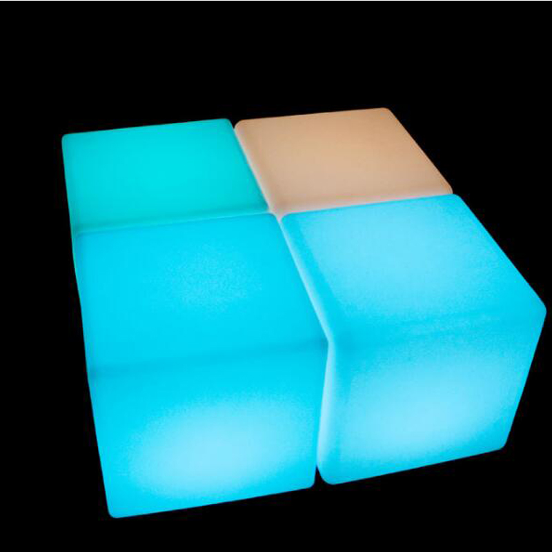 WorkWell Color Changeable Outdoor Seating Cube LED Light Chair 40*40*40cm Party LED Cube Chair