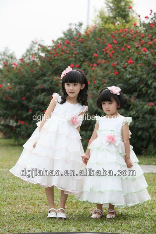 2013 fashion short beach wedding dresses lace for girls of 3 years old
