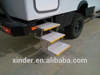 Tuv ce alluminio elettrico tripla 3 scaletta sgabello passo passo
