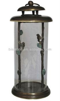 Antique Vintage Art Nouveau, Table Top/Hanging Hurricane Lantern Candle Lamp,  Home Decoration