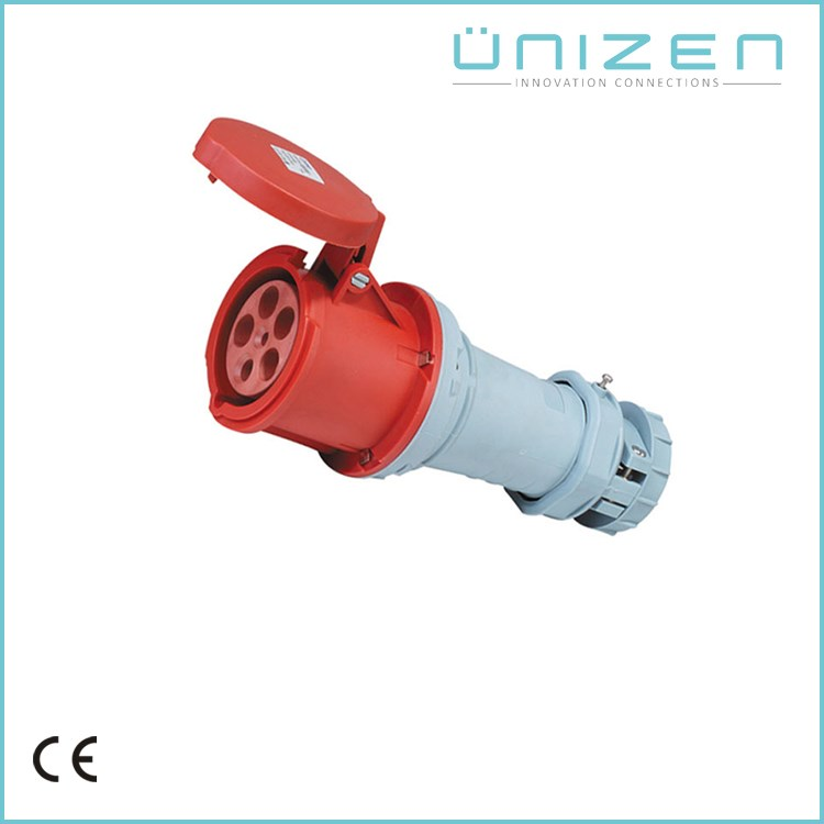 3P+N+E IP67 IP44 Male and female electrical industrial plug and socket