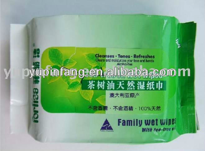 OEM Family Cleaning Wet Wipes with Tea Tree Oil
