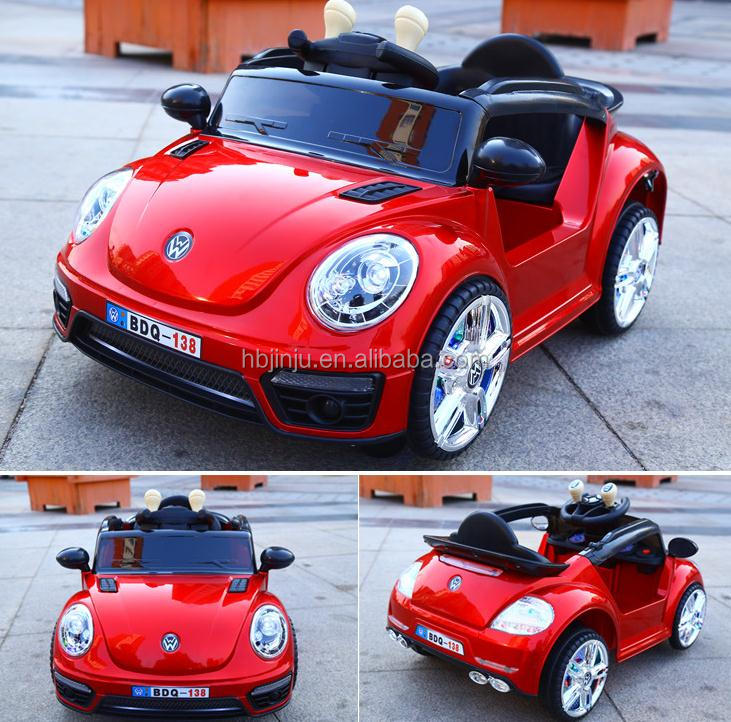 Newest licensed VW Beetle Kids 12V Battery Powered electirc small ride on toy cars