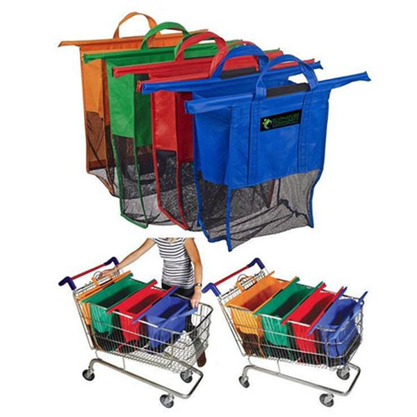 Supermarket Shopping Cart Trolley Bag Hot Sale Non-woven Grocery Bag