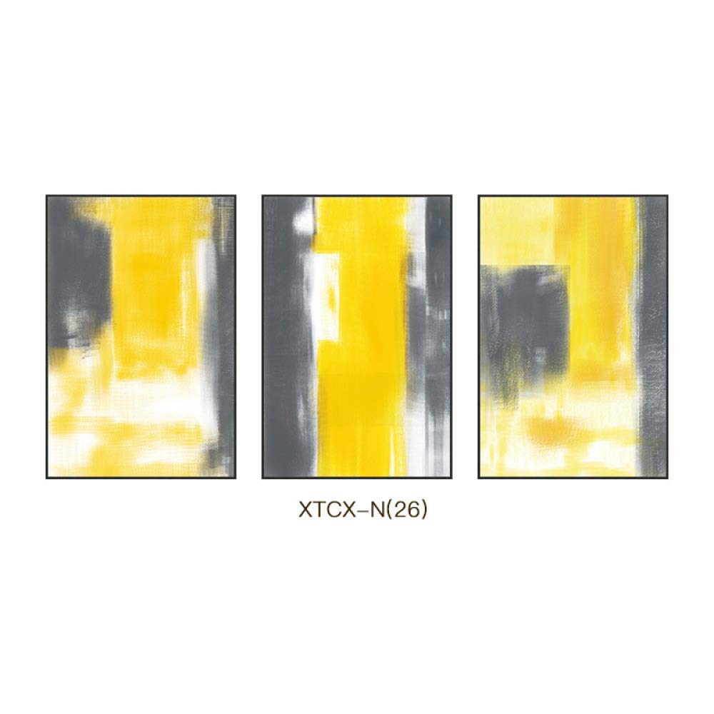 STTS Nordic Style Abstract Pattern Painting, Creative Modern Minimalist Framed Painting, Triple Living Room Bedroom Decorative Painting