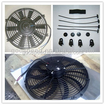 High performance universal auto radiator fan in size 9-16 inch