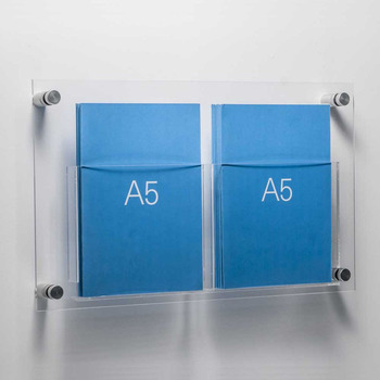 Clear Acrylic Wall Mount A5 Paper Holder Leaflet Holder