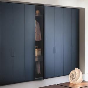 Foshan custom made wardrobe design with dressing table glass door I shape  wardrobe