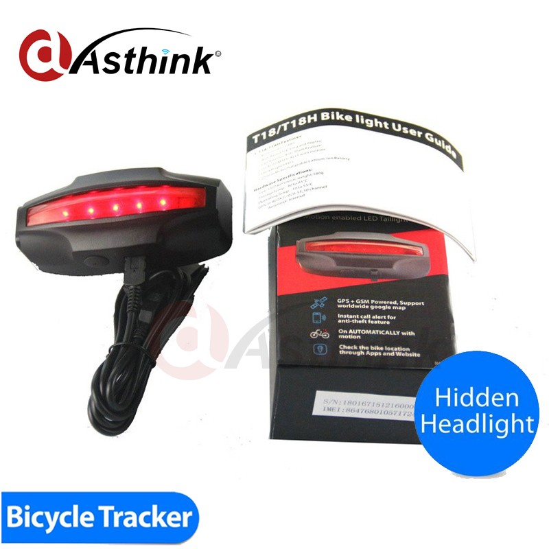 Tail Lamp Bike GPS Built in 2200mAh rechargeable Lithium-ion battery simcom sim808 gsm/gprs gps module with certificate