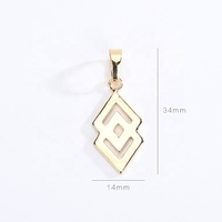 Latest Fashion Elegant DIY Gold Plated Pendants Necklace Charms