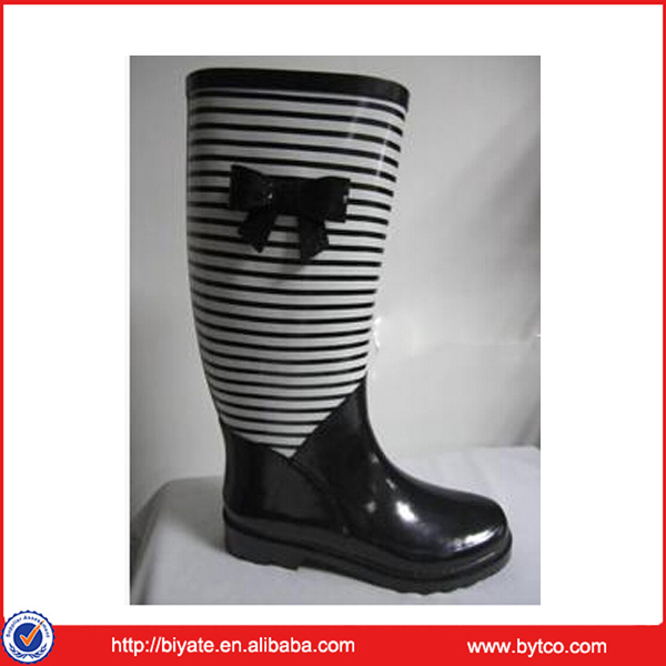 lady beautiful gentlewomanly decent high rain boots