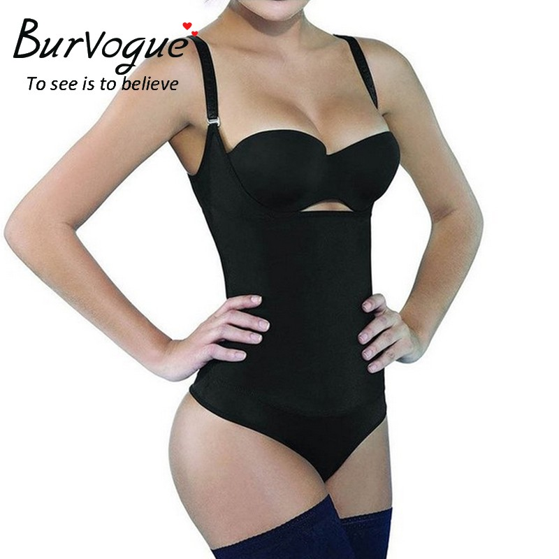 Burvogue Black Slimming Latex Shaping Body Shaper Best Shapewear For Women Wholesale