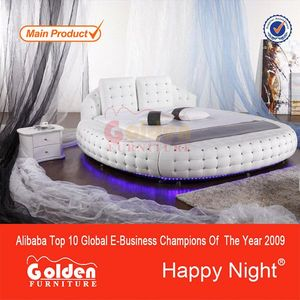Alibaba italian hot sale round fabric bed