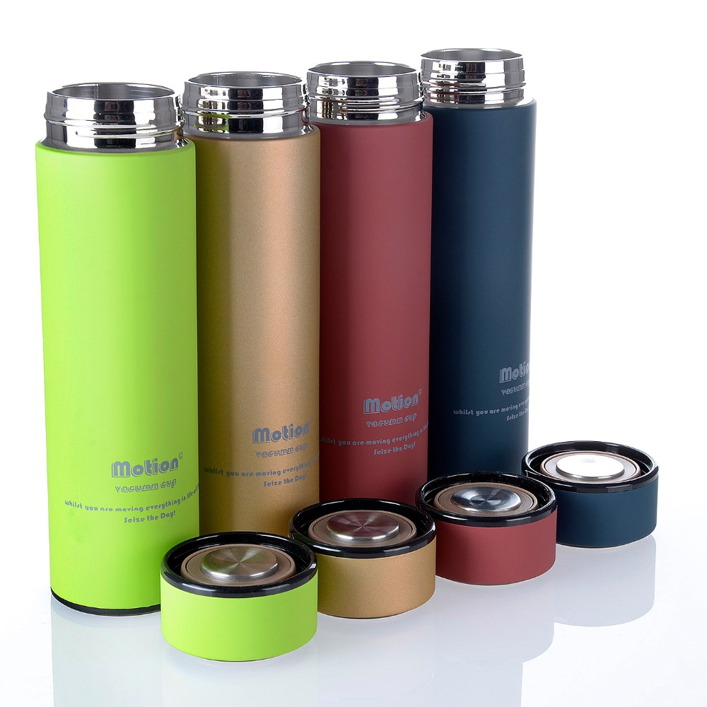 double walled stainless steel insulated thermos vacuum flask with strainer buy stainless steel. Black Bedroom Furniture Sets. Home Design Ideas