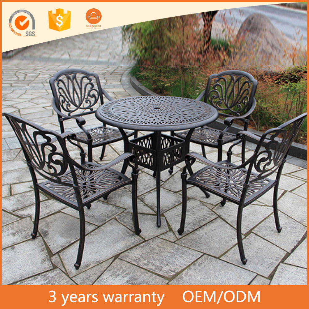 Outdoor Dining Set Cast Aluminum Patio