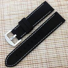 Ремешок для часов BUMVOR, для мужчин и женщин, силиконовый, для погружения, для спорта, вентиляции, резиновый, водонепроницаемый, 20 мм, 22 мм, 24 мм(Китай)