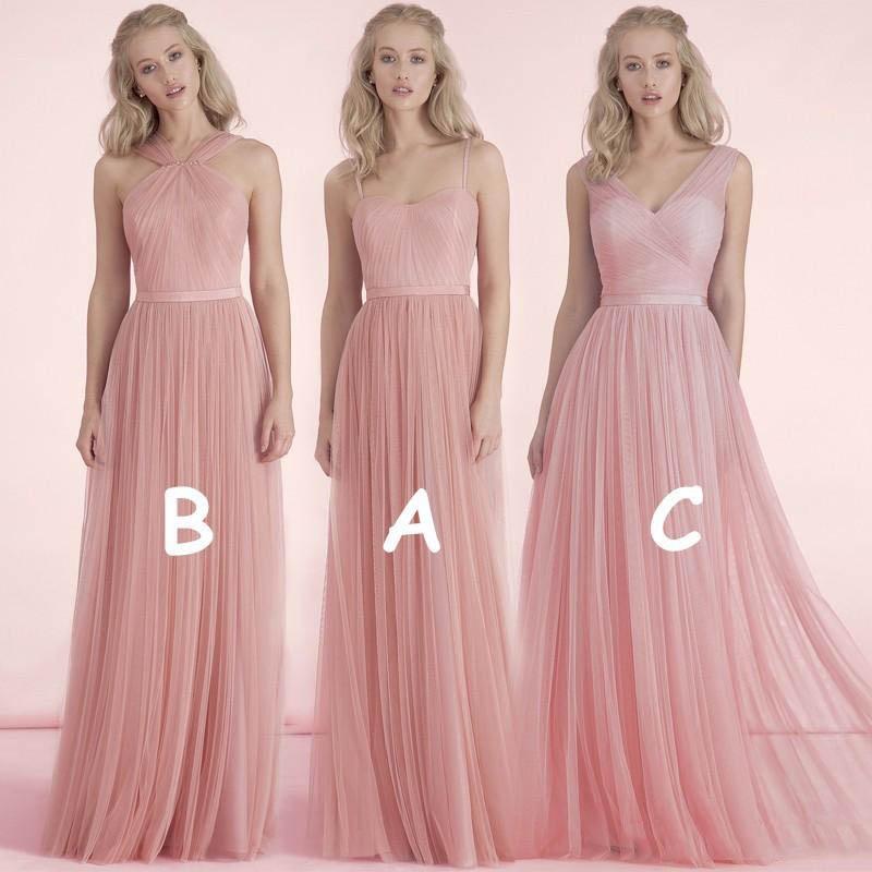 23347e9a0c5 vestidos rosa pano para damas de honor
