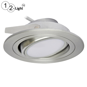 Tiltable IP44 Step-dimmable 5W LED Downlights Recessed