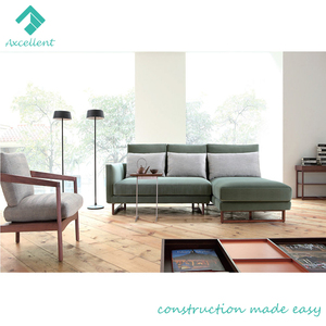 Small house furniture L shaped fabric sofa with price