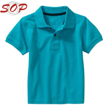 Baby Boy Design 100%Cotton Trendy Plain Blank Pure Color Polo Shirt