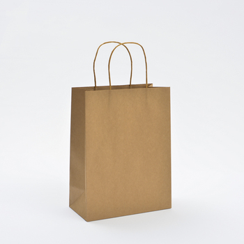 Eurototes various style luxury hand made brown kraft paper bag with printing