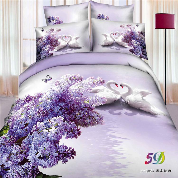 Best Quality 100% Cotton 5D Bedsheet Set/3D Bedsheet Set