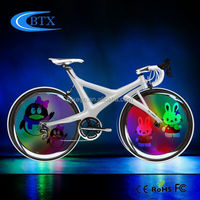 2015 Hot New Products 4 root lamps Bicycle Wheel Light LED hot wheels bicycle generator