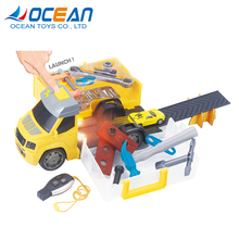 Hot sale kids model plastic car tool truck toy with Yellow shape