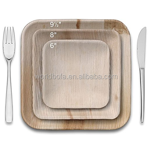 Wooden plate Natural solid ash wood plates serving tray Disposable tableware