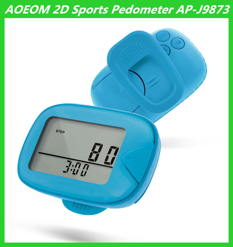 2D Fitness Digital Calorie Pedoemter High Quality Step Counter as Christmas Gift