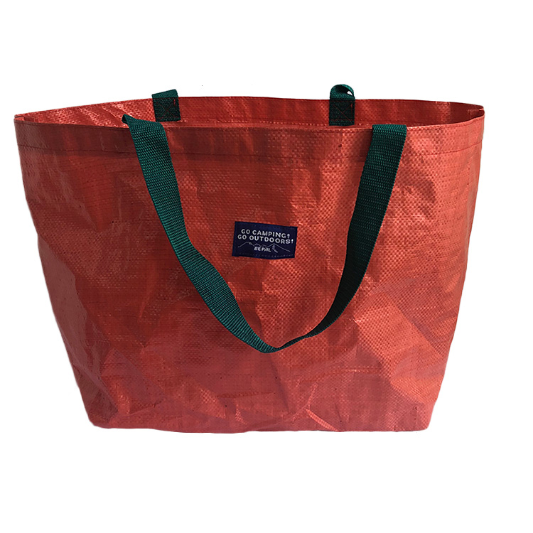 Customized Logo Red Waterproof 180G Shopping Recycle Laminated Pe Plastic Polypropylene Pp Woven Bag