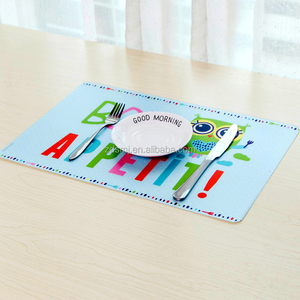 Popular easy clean waterproof oil resistance recyclable various style print dining plastic kids table mat