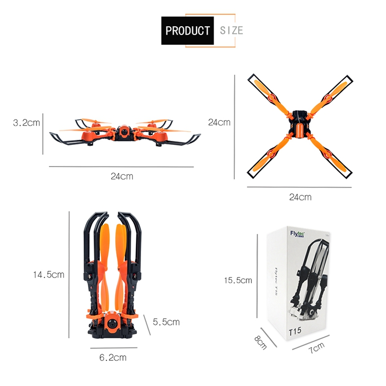 New Style Flytec T15 RC Flying Drone WIFI Camera Foldable Selfie Drone VS JJRC H47