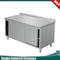 NSF approval stainless steel work table or kitchen storage cabinet for restaurant